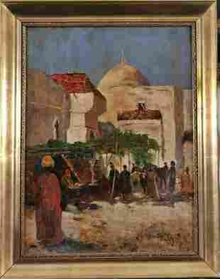 Ottoman Street Scene Oil Painting