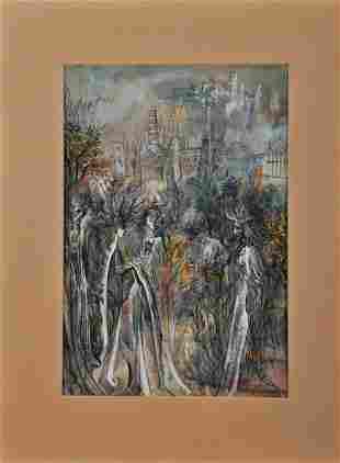 Italian Cityscape Oil Painting
