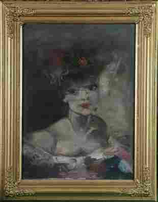 Portrait of A Parisian Woman Oil Painting