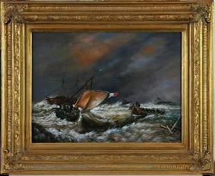 Stormy Ocean Oil Painting