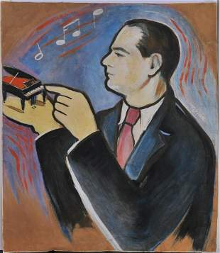 Portrait of A Pianist Oil Painting
