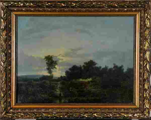 Landscape With Fisherman Oil Painting