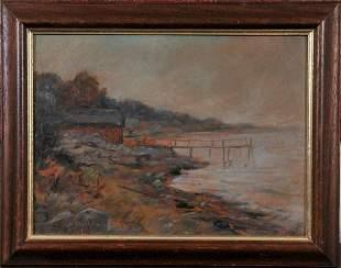 Lakeside Landscape Oil Painting