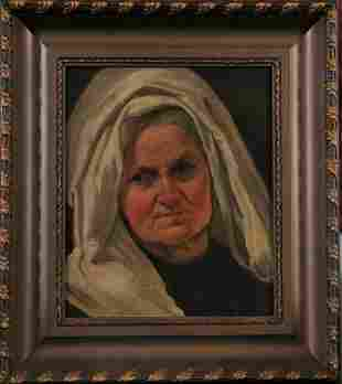 Portrait of An Old Lady Oil Painting