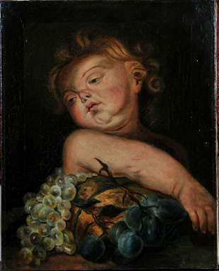 Portrait of A Putto Oil Painting