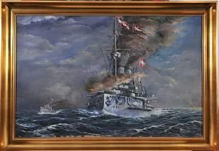 1st. World War, Austrian Oil Painting