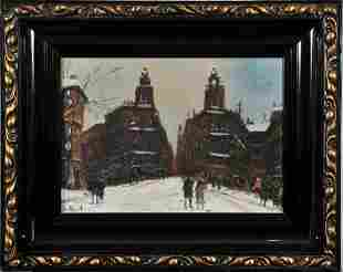 Winter In Budapest Oil Painting