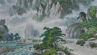 Korean Artistic Landscape Watercolor