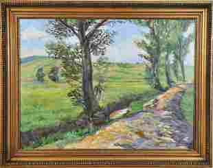 Country Road Oil Painting