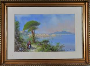 Bay of Naples Oil Painting