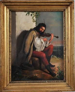 Gipsy With His Violin Oil Painting