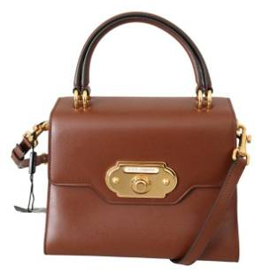 Brown Leather Crossbody Purse Women WELCOME Purse