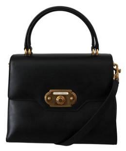 Black Leather Crossbody Purse Women WELCOME Bag