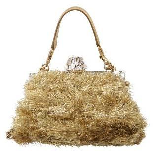 Gold Crystal VANDA Evening Party Hand Shoulder Bag