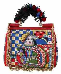 Multicolor Queen Of Hearts Purse Satchel SICILY Bag