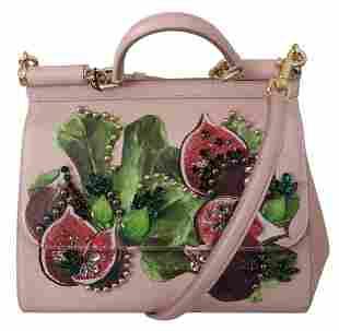 Pink Fruit Shoulder Purse Borse Crystal Fig SICILY