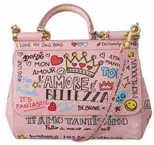 Pink Amore Shoulder Purse Borse Satchel SICILY Bag