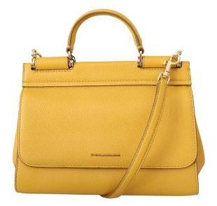 Yellow Shoulder Purse Borse Satchel SICILY Leather Bag