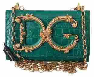 Green Leather Shoulder Logo iPhone X Cover Case Bag
