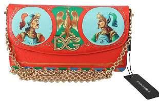 Red Clutch Shoulder Women Borse Leather Purse
