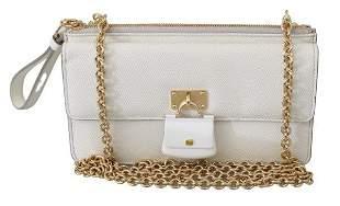 White Padlock Phone Purse Women Sicily Leather Bag