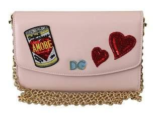 Pink Amore Patch Shoulder Wallet Borse Leather Bag