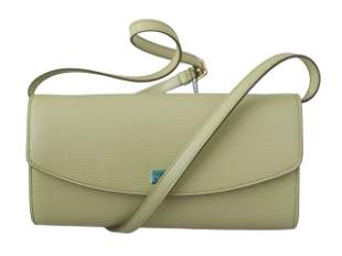 Beige Evening Long Clutch Women Borse 100% Leather Bag