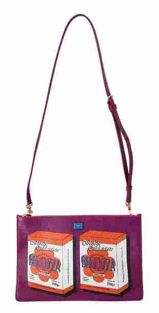 Purple Bellezza Shoulder Sling Purse CLEO Leather Bag