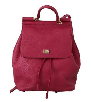 Pink 100% Leather Backpack Women Borse SICILY Bag