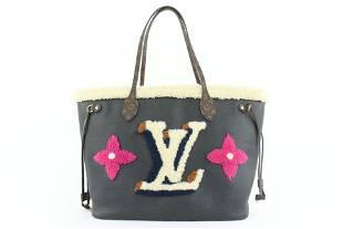 Louis Vuitton Black Shearling Monogram Teddy Neverfull