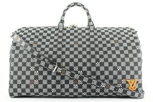 Louis Vuitton Black Distorted Damier Keepall