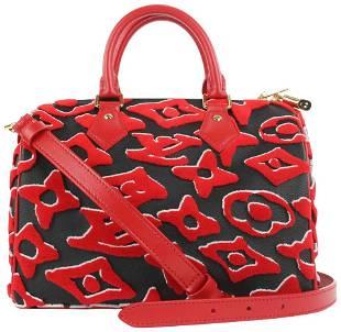 Louis Vuitton LVxUF Urs Fischer Red Monogram Speedy