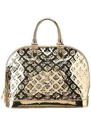 Louis Vuitton Large Gold Monogram Miroir Alma GM Bowler