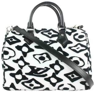 Louis Vuitton LVxUF Urs Fischer Black White Speedy