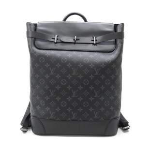 Louis Vuitton Black Monogram Eclipse Steamer Backpack