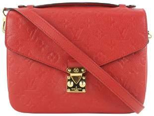 Louis Vuitton Red Empreinte Cerise Leather Monogram