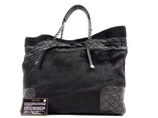 Chanel Quilted Lambskin Pony Hair Chain Tote