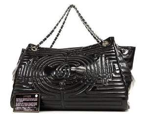 Chanel Quilted Geometric Chain Tote