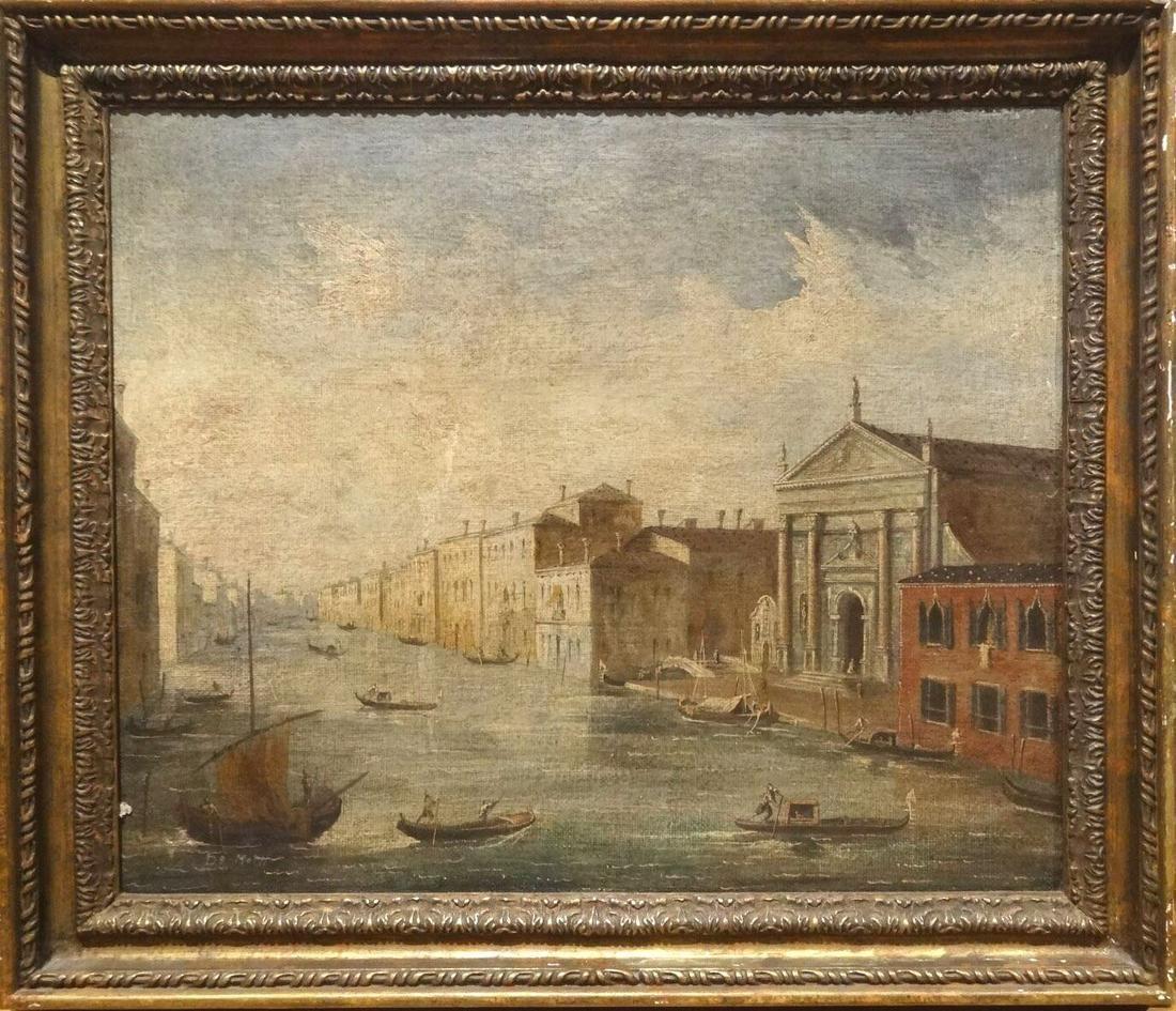 Gondola Landscape Oil Painting