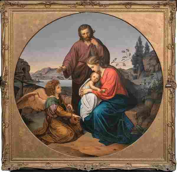 Holy Family & An Angel Mary Christ & Joseph Oil