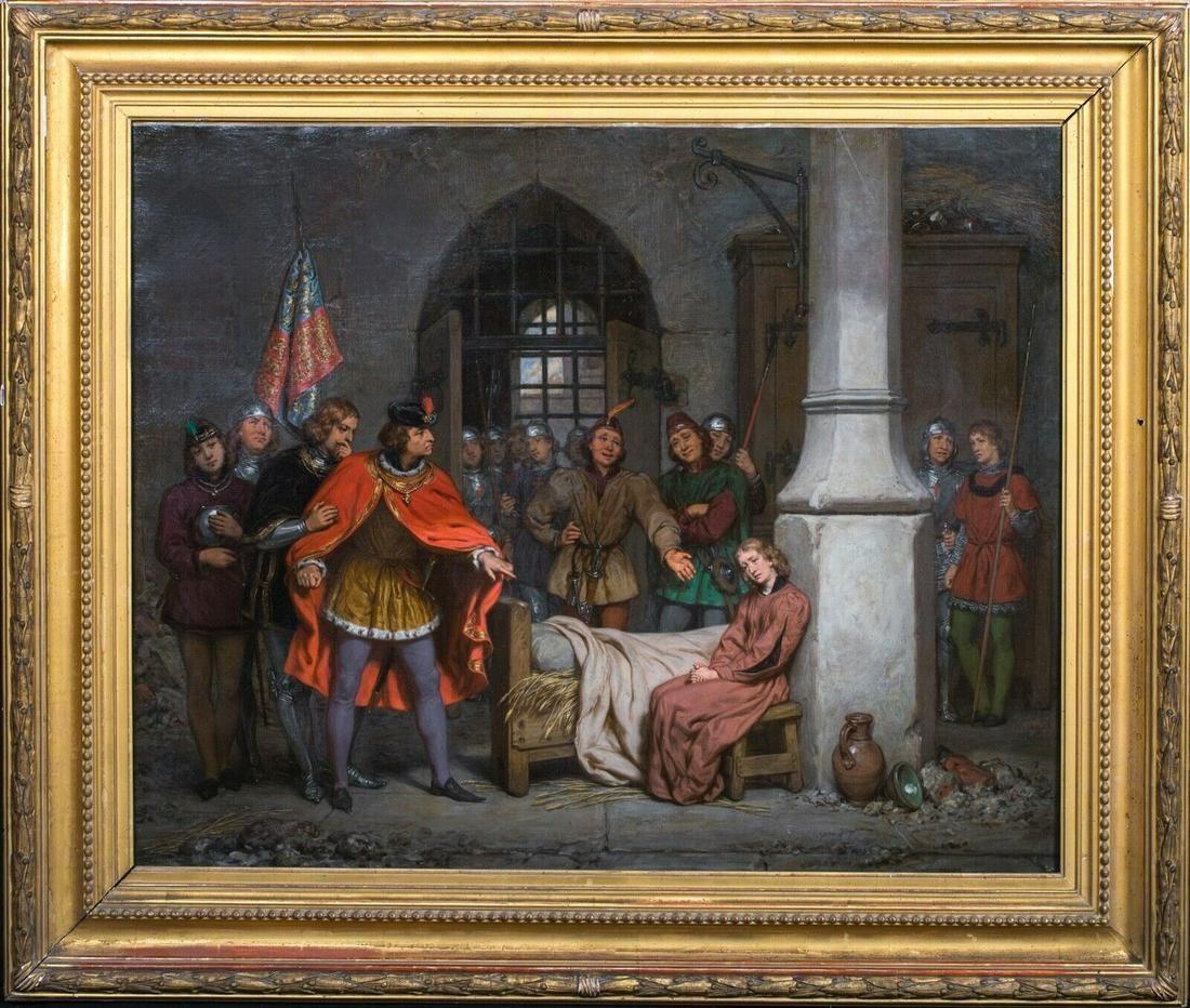 Joan Of Arc Prison Scene Oil Painting