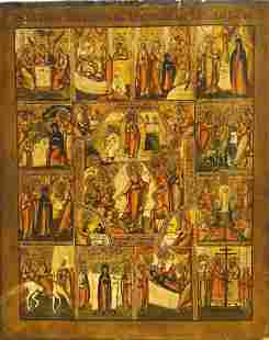 Icon Descent To Hell & Resurrection Tempera Oil