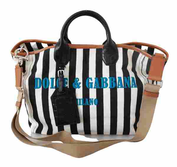 Black White Stripes Shopping Borse Women Tote Cotton