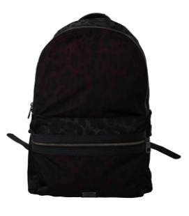 Multicolor Leopard School Backpack Mens Nylon Bag
