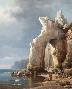 Smugglers & Pirates Beach Oil Painting