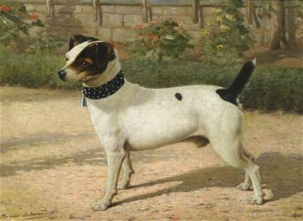 Jack Russell Terrier Dog Oil Painting