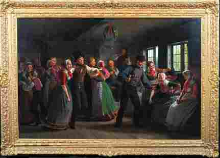 Christmas Party Interior Oil Painting