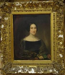 Portrait of English Novelist Oil Painting