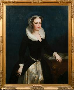 Portrait Of Queen Mary of Scots Oil Painting