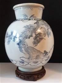 Korean Joseon Dynasty Vase Tiger and Magpie